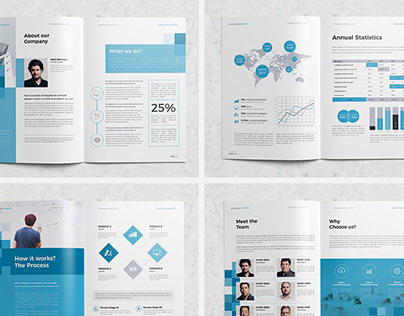 Corporate Brochure Template - 16 Pages