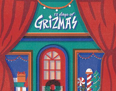 12 Days for Grizmas 2017 identity