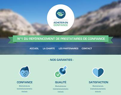 Acheter en confiance - logo et site web home page