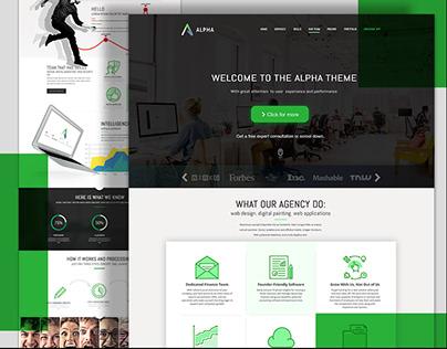 Alpha - Landing Page Design