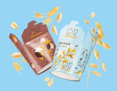 O12 Green oat ice cream packaging