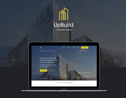 UpBuild - Modern Construction Website