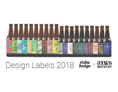 Jaws Brewery. Labels Design. 2018.