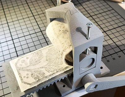 Mini-Prints mit Druckpresse vom Open Press Project