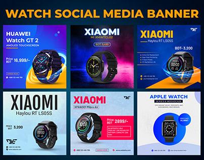 Watch Social Media Post Banner Design , Gadget banner.