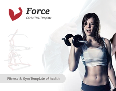 Force - Fitness Template for Health, Gyms and Yoga Cent