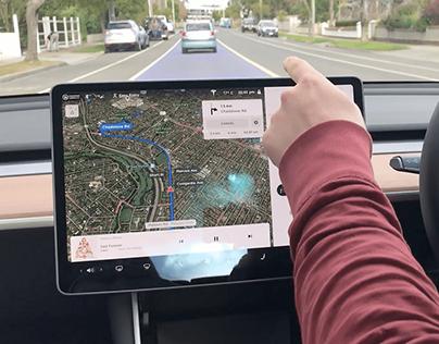 Augmented Reality Tesla Windshield