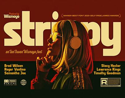 Strippy – Bold Futuristic Fonts