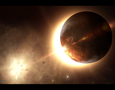 Red Space Speed Matte Painting Practice.
