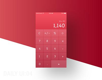 Daily ui : 04 Calculator
