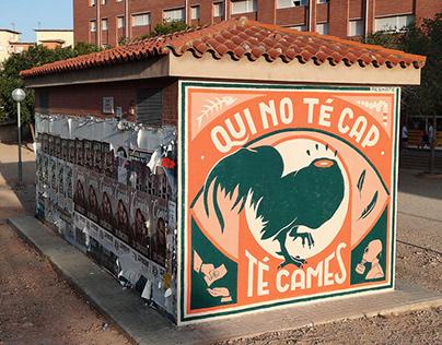 """""""Qui no té cap"""" Wall (Tarragona, Catalunya)"""