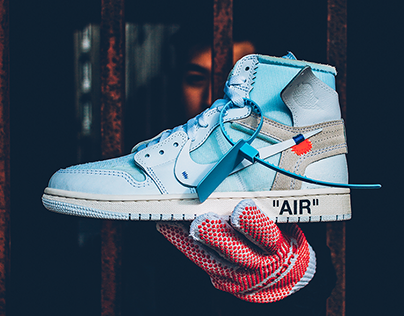 "OFF-WHITE x Jordan 1 ""WHITE"" photoshoot"