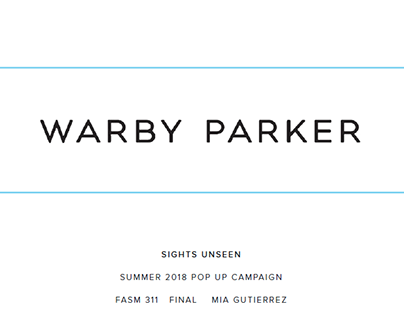 Warby Parker Pop Up Campaign