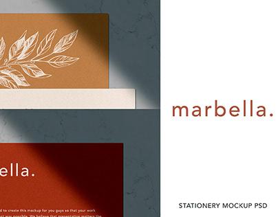 FREE MARBELLA STATIONERY MOCKUP