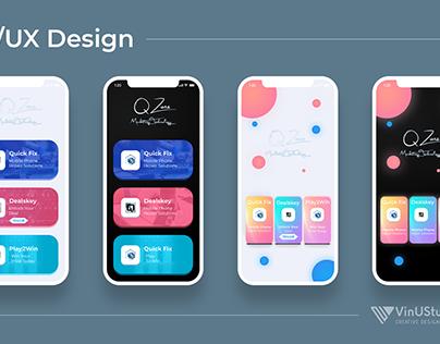App UI/UX Q Zone Design