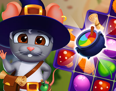 Wizard Mouse - match 3 game