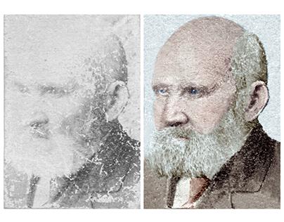 Restoration & colorisation - coachman (c 1900)