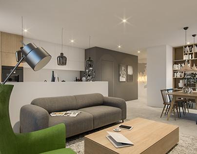 Scandinavian-industrial Apartment
