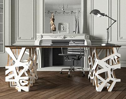 VMan3 Cardboard Desk