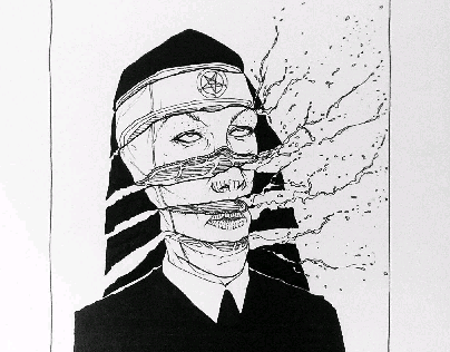 Inktober and before (Character Created by me)