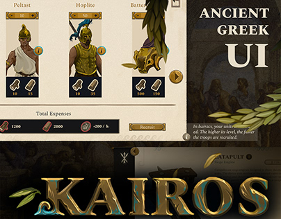 Kairos - Ancient Greek UI