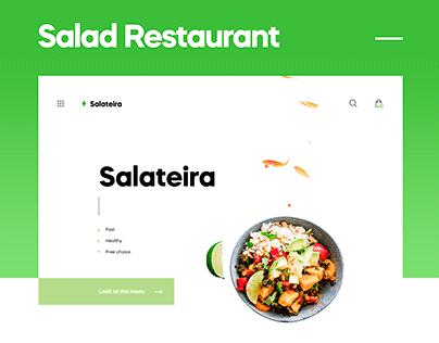 Salad Restaurant Landing Page