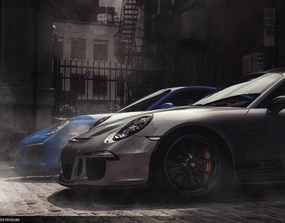 Porsche 911R + 911 Carrera4GTS