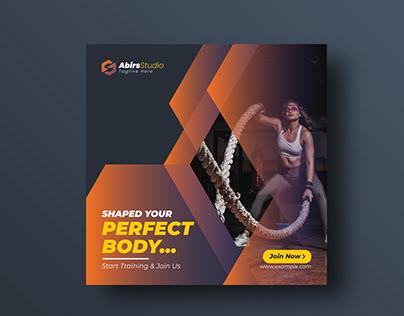 GYM or Fitness Social Media Banner