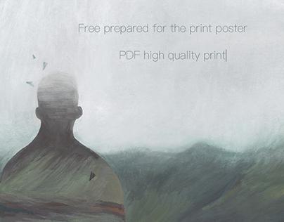 Free print gouache poster
