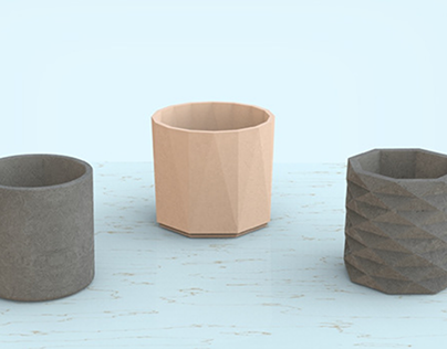 Concrete Planters (Render and Animation)