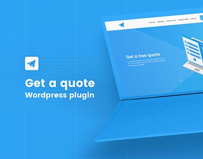 Get a quote - Wordpress plugin