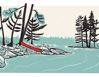Red Canoe, Georgian Bay