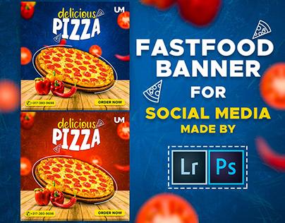 Social Media Food Banner & Motion Video