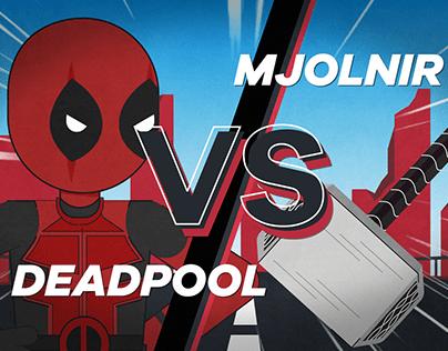 Deadpool vs Mjolnir