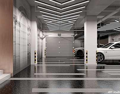 Car garage design.