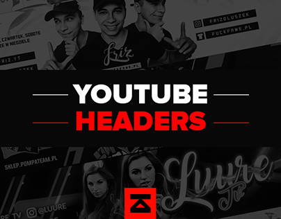 YouTube headers collection