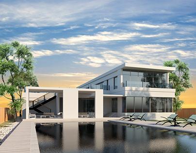 Modern Pool House, Canada.