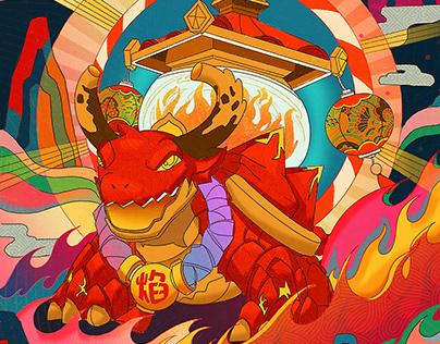 Super Fire Turtle - Illustration