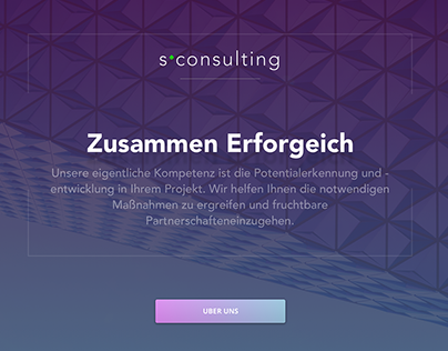 SConsulting landing page