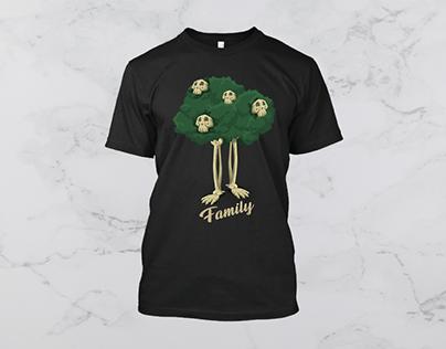 Skull Family T Shirt