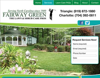 Fairway Green website design
