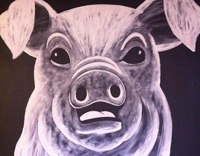 """Earls painted murals """"Great Food. Great People"""""""
