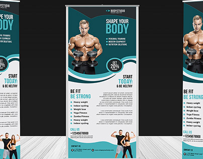 THIS IS CREATIVE ROLL UP BANNER DESIGN