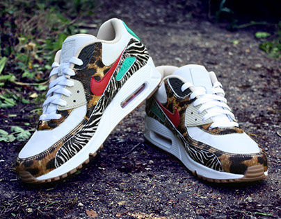check out 4c5ca bd715 Nike Air Max 1 Cement   Elephant Print Customs on Behance
