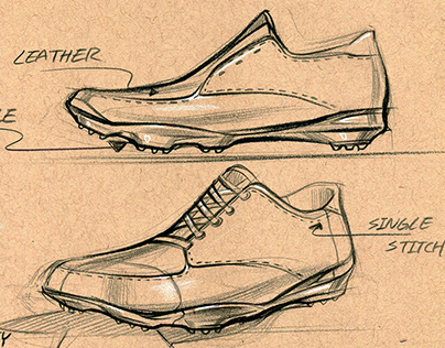 Golf shoes sketches