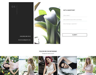 Promo Website for Photographer