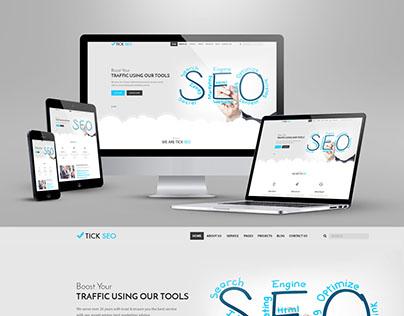 SEO Business Website Mock-up