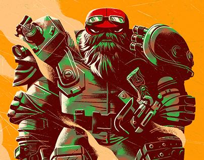 Teenage Mutant Ninja Turtles Mondo Print