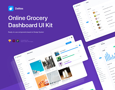 Delites - Grocery Dashboard UI Kit