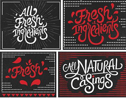 Umai Savory Hot Dogs™ | Typography Artworks Design